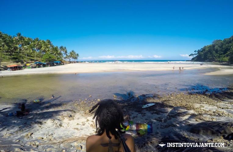 Rio e praia de Jeribucaçu - uma das melhores praias de Itacaré, Bahia!
