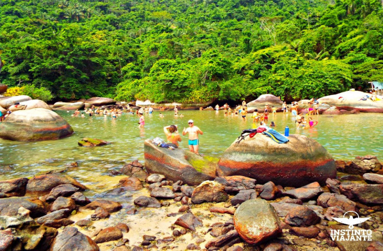 Vista da Piscina Natural do Cachadaço, Trindade, Paraty, RJ, Brasil.