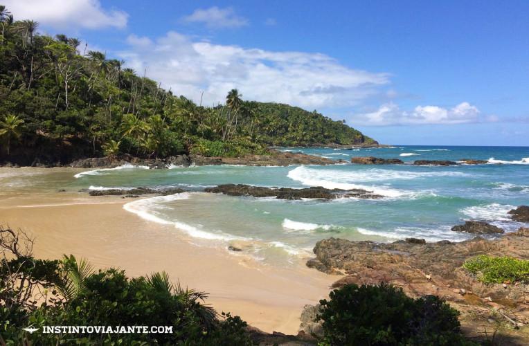 Praia da Camboa (ou Camboinha), em Itacaré - linda e deserta.