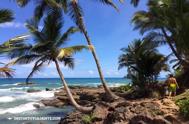 Começo da trilha Havaizinho > Camboinha (ou Camboa), em Itacaré.
