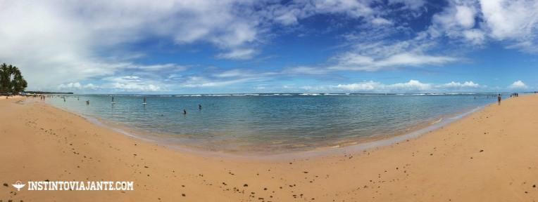 Praia de Taipu de Fora, na Península de Maraú, na Bahia.