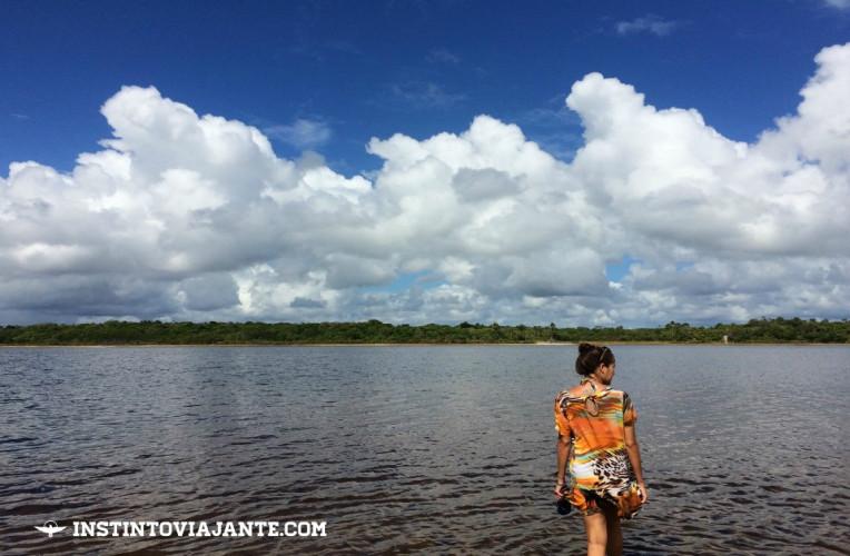 Lagoa do Cassange - nossa primeira parada durante o passeio pela Península de Maraú, saindo de Itacaré.