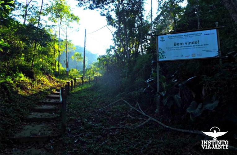 Início da trilha Laranjeiras - Praia do Sono