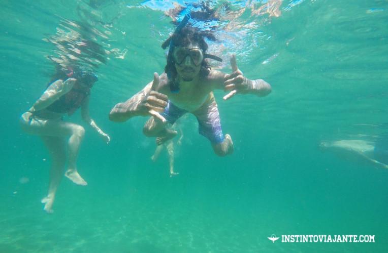 Registro durante nosso mergulho com snorkel em Taipu de Fora, Bahia.