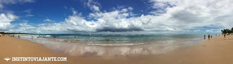 Panorâmica da praia de Taipu de Fora, Peninsula de Maraú, Bahia