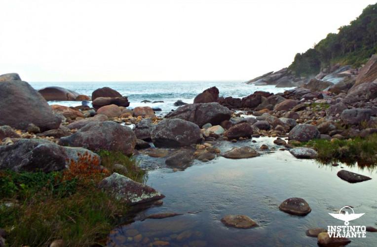 Praia das Galhetas, na Travessia da Juatinga, em Paraty.