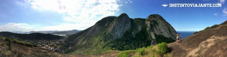 Pedra do Elefante vista do Costão de Itacoatiara