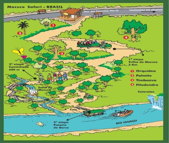 macuco safari cataratas mapa