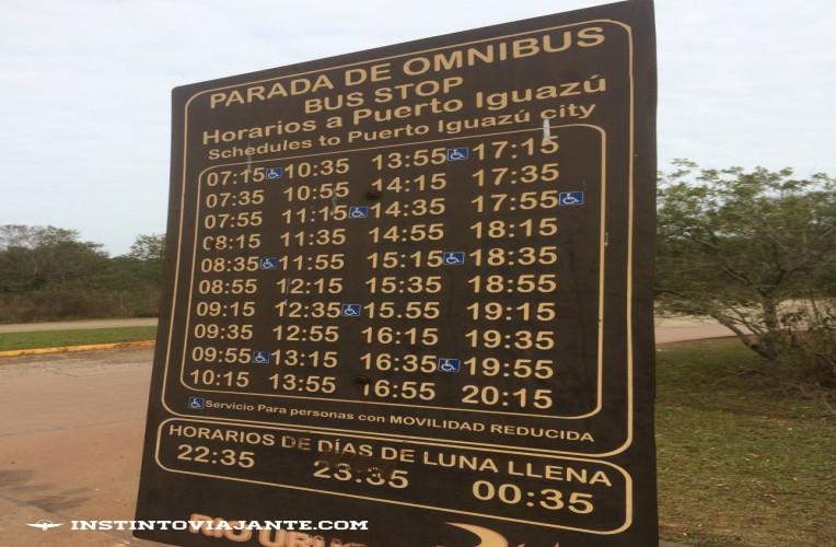 horarios onibus cataratas puerto iguazu_rio_uruguay