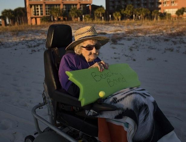 as vesperas de completar 101 anos ruby holt realizou um sonho ver o mar pela primeira vez em sua vida 1416584518380_615x470