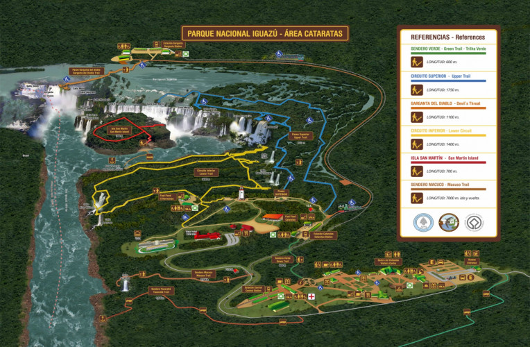 mapa cataratas de iguazu argentina