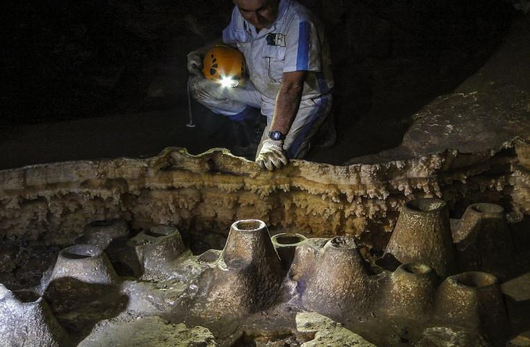 Salão dos Vulcões, um dos destaques da Caverna Santana, no Núcleo Santana, do PETAR
