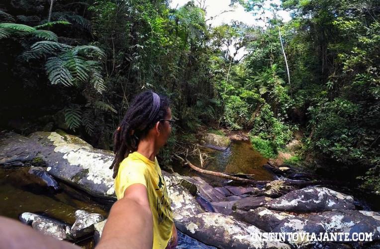 Riozinho que desce a Cachoeira do Sem Fim no Petar-SP