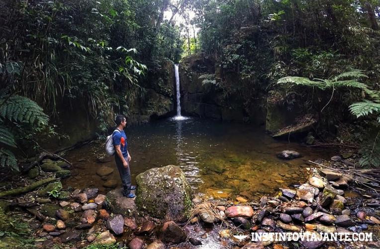 A famosa queda da Cachoeira Sem Fim
