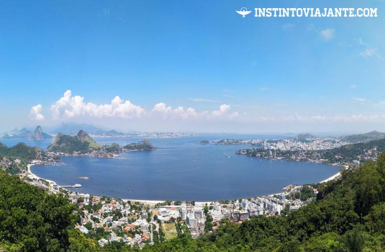 Vista panorâmica do Parque da Cidade e praia de São Francisco em Niterói
