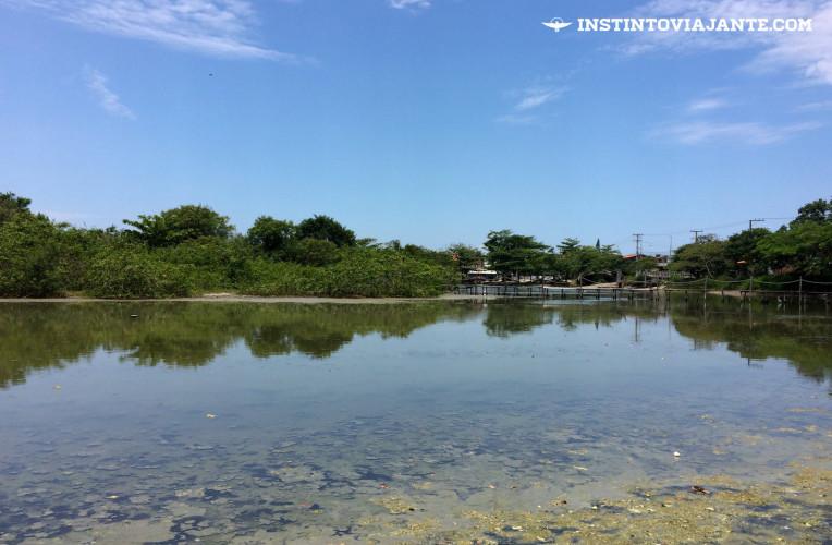 Laguna de Piratininga na saída da trilha Tupinambá