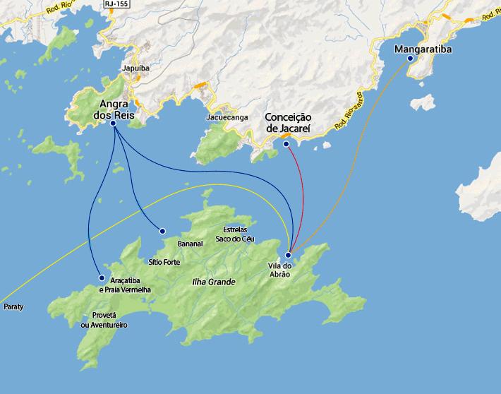 Mapa Ilha Grande-RJ