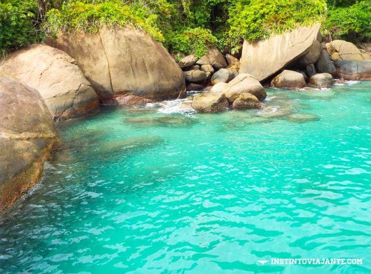 Local onde mergulhamos, perto do píer de Aventureiro, Ilha Grande/RJ – Sem filtro, acredite!
