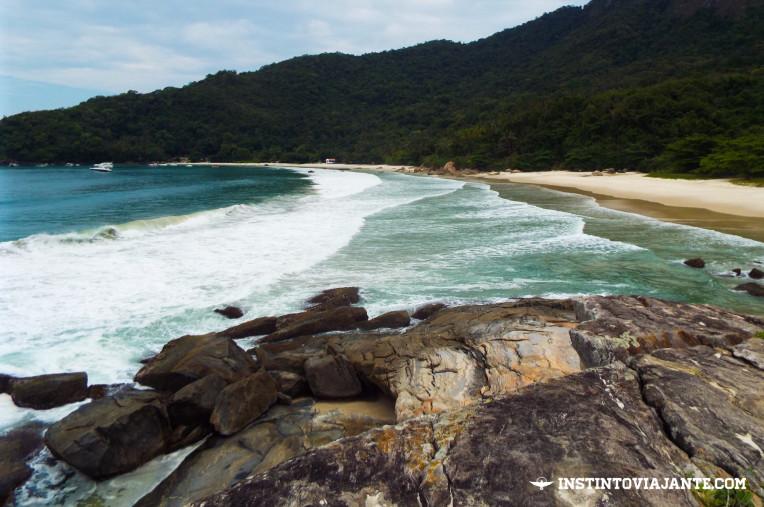 Aventureiro e Praia do Demo vistas do Costão do Demo, em Ilha Grande/RJ