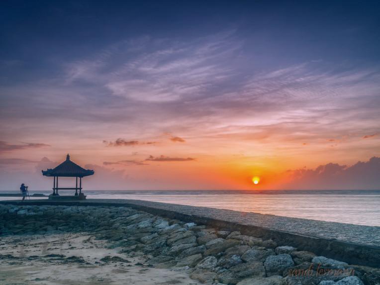 Por do sol em Bali, Indonésia, Asia