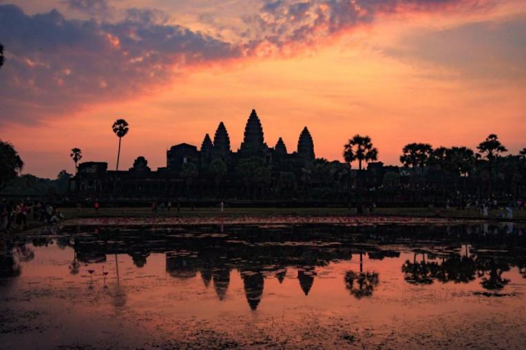 O que fazer no Camboja - Nascer do sol no Templo Angkor Wat