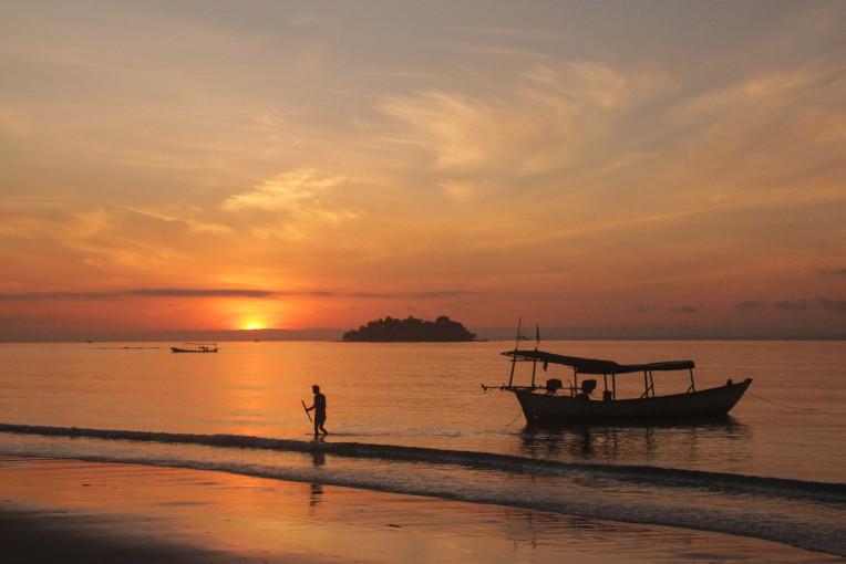 Nascer do sol Ilha de Koh Rong - viagem Camboja
