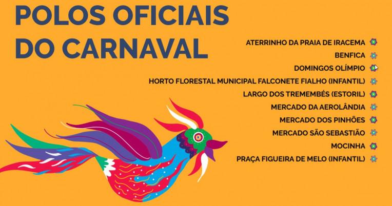 Polos Oficiais Carnaval Fortaleza 2020