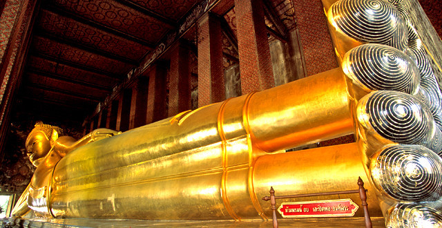 Wat Pho - Templo do Buda Reclinado - Bangkok - Tailândia