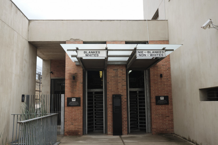 África do Sul - Portas Museu do Apartheid em Joanesburgo