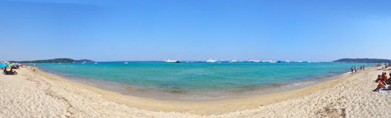 Melhores praias da franca - Pampelonne Beach - Saint Tropez - Panoramica