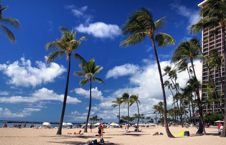 Ilha de Oahu - Havaí - Praia de Waikiki - Honolulu