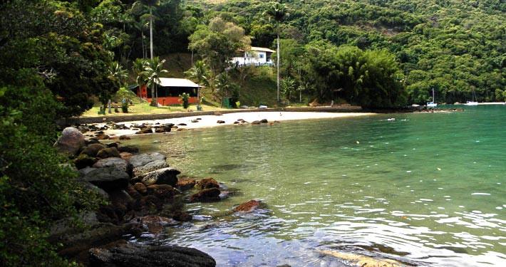 Praia do Guaxuma, Ilha Grande, Brasil