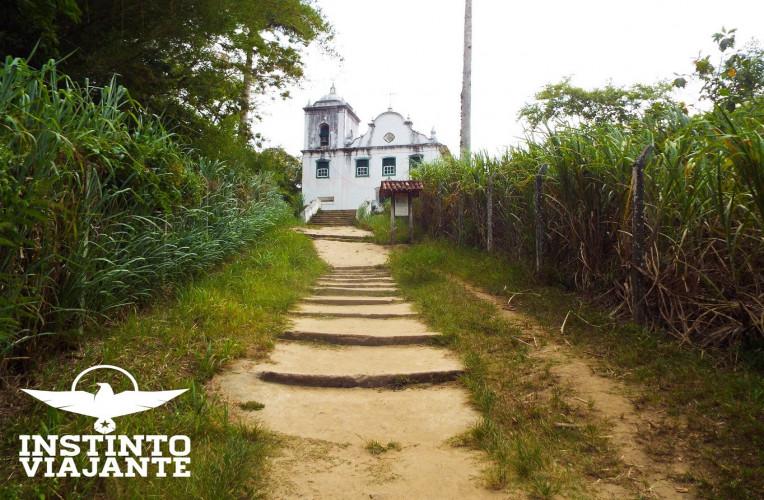 Igreja de Santana (1796), considerada o monumento religioso mais importante de Ilha Grande/RJ