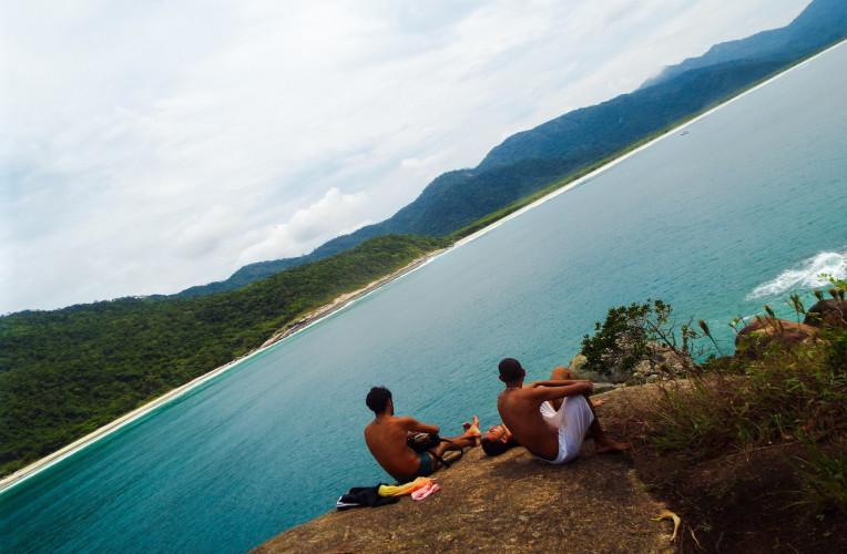 Topo do Mirante do Espia, em Aventureiro, Ilha Grande/RJ