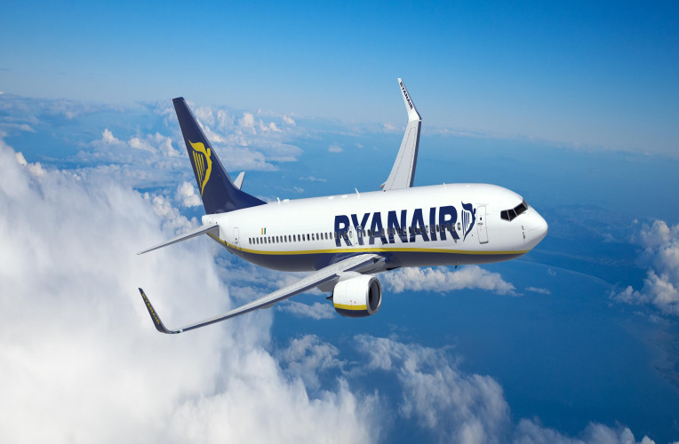 Avião da companhia low cost Ryanair