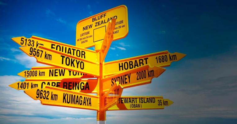 Placa de indicação de destinos