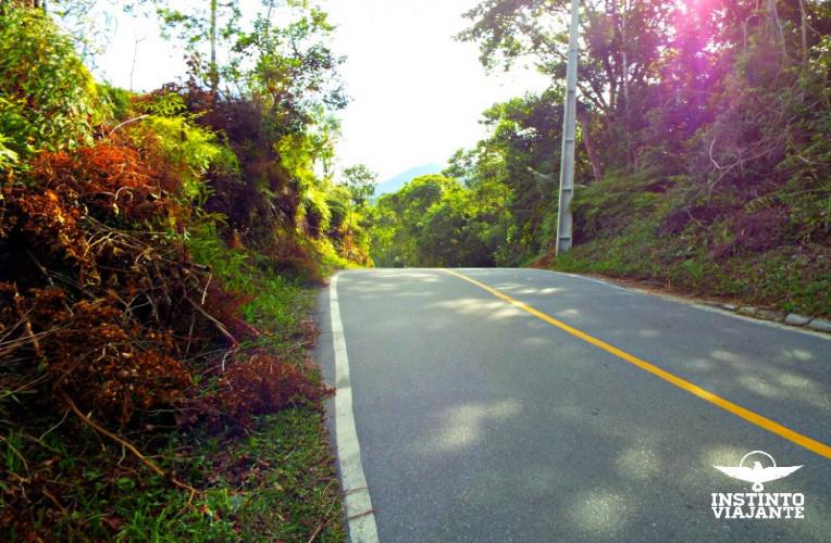 Estrada no caminho para Trindade, Paraty/RJ, Brasil