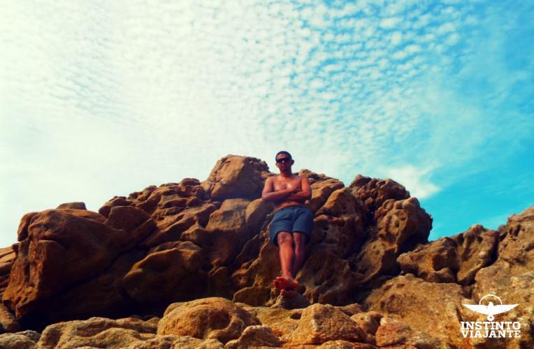 Pedreira na Praia do Cachadaço, Trindade, Paraty, RJ, Brasil