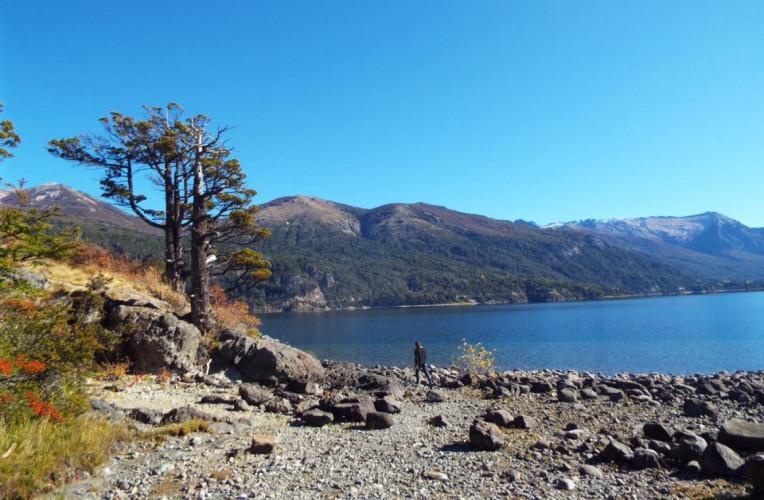 Lago Perito Moreno (ou apenas Moreno), em Bariloche, Argentina