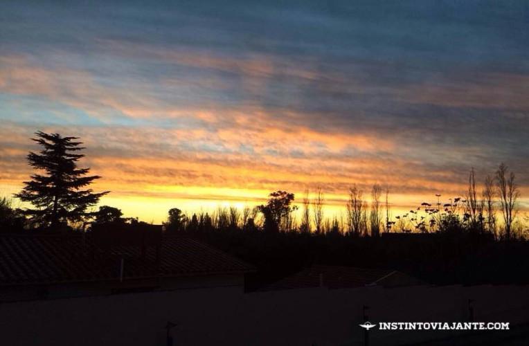 Por do sol em Mendoza